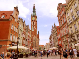 Dluga, the main thoroughfare in the Old Town of Gdansk.