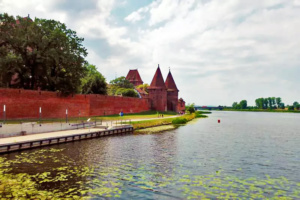 The Castle of the Teutonic Order in Malbork, a 13th-century Teutonic castle and fortress