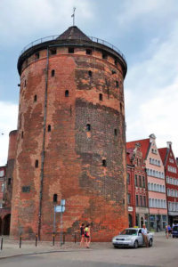 15th Century Fortification Tower and Gate to the Old Town of Gdansk.