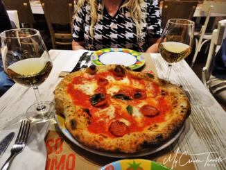 Classic Margherita Pizza, from our favorite haunt in Venice, Rossopomodoro.