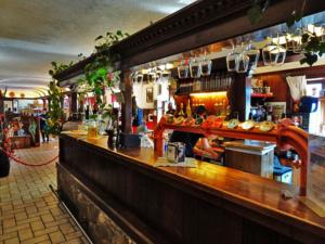 A quaint little bar inside the restaurant.