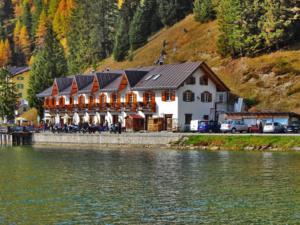 The Locanda Al Lago Hotel and Restaurant on Lake Misurina.