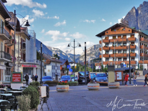 From every angle, you can see the Dolomite Mountains.