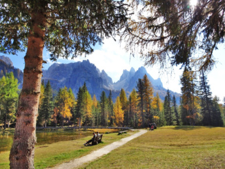A beautiful view of the Dolomite mountains that we visited on a day trip from Venice.