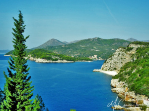 A great view of the countryside around Dubrovnik