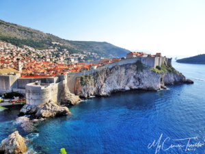 What a beautiful view of Dubrovnik.
