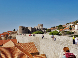 Looking across other sections of the city walls.  Structures are built right up the edge and sometimes are attached.